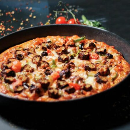 Chicken Kabab Pizza in Muscat Oman